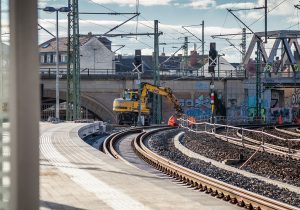 Haltepunkt Bischofsplatz kurz vor der Fertigstellung