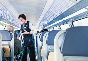 Silke Haas, Zugbegleiterin bei der DB Regio