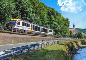 Müglitztalbahn RB 72 unterwegs auf ihrer Strecke